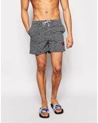 Bellfield - Printed Swim Shorts - Lyst