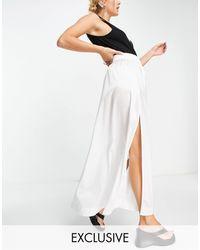 Reclaimed (vintage) Falda midi blanca - Blanco