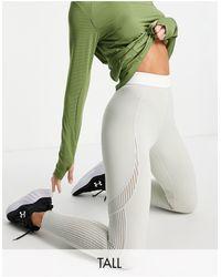 ASOS 4505 Tall - legging avec empiècement en tulle préformé et taille contrastante - Vert