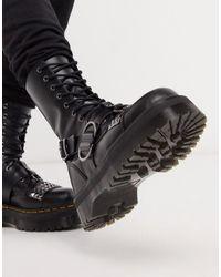 Dr. Martens - Высокие Черные Ботинки С Заклепками И 10 Парами Люверсов Jadon-черный - Lyst