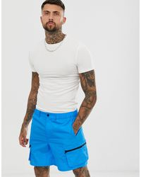 ASOS Organic Muscle Fit T-shirt With Crew Neck In Off White