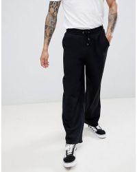 ASOS - Wide Leg Joggers In Black - Lyst