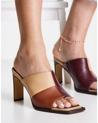 NA-KD Multi Toned Mule Sandals - Multicolour