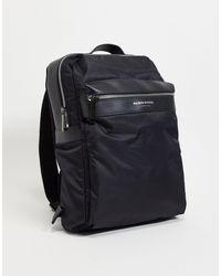 River Island Maison Square Backpack - Black
