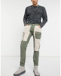 Liquor N Poker Cargo Trousers With Pocket Detail - Multicolour