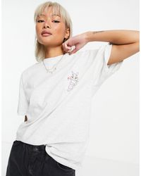 Skinnydip London Camiseta extragrande - Gris