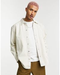 Weekday Calam - chemise en jean - écru - Multicolore