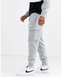 Nike Серые Джоггеры Карго С Манжетами -серый