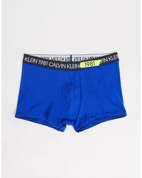 Calvin Klein Синие Боксеры-брифы -синий