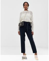 Y.A.S Paperbag Waist Tapered Trouser - Blue