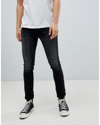 Jack & Jones - Intelligence Jeans In Slim Fit With Distressing - Lyst