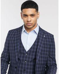 River Island Slim Fit Suit Jacket - Blue