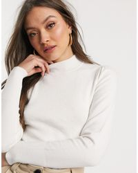 Warehouse Jumper With Funnel Neck - White