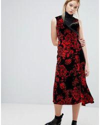 Sportmax Code - Garza Velvet Midi Dress - Lyst
