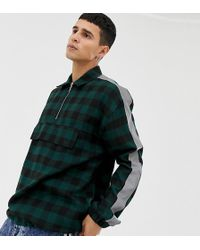 Collusion - Check Over Shirt With Reflective Tape - Lyst