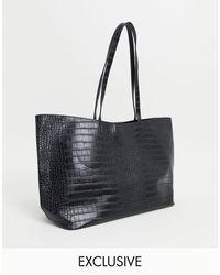Glamorous Exclusive Oversized Tote Bag - Black
