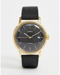 Timex Часы С Кожаным Ремешком Marlin Automatic - Многоцветный