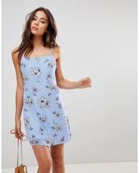Oh My Love Cami-jurk Met Knopen - Blauw