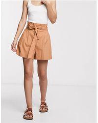 ASOS Ultimate Linen Suit Shorts - Natural