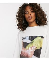 Missguided T-shirt With Graphic In White
