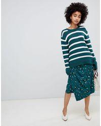 Soaked In Luxury Leopard Wrap Skirt - Green