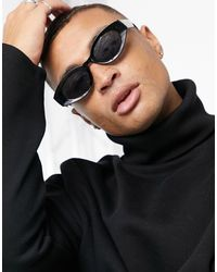 ASOS - Recycled Frame Mid Oval Sunglasses - Lyst