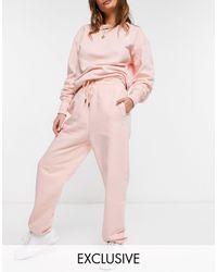 The North Face Светло-розовые Базовые Oversized-джоггеры Essential – Эксклюзивно Для Asos-розовый Цвет