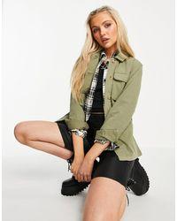 Miss Selfridge Удлиненная Куртка Цвета Хаки С Поясом -зеленый Цвет