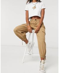 Bershka Pantalon cargo fonctionnel - Neutre