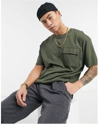 Threadbare Oversized Pocket T-shirt - Green