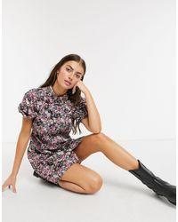 Vero Moda Shirt Dress With Puff Sleeves - Multicolour