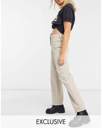 Collusion X014 - Jeans dad fit lavaggio ostrica - Neutro