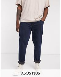 ASOS Plus Tapered Jeans - Blue