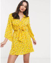 AX Paris - Платье С V-образным Вырезом На Завязке -мульти - Lyst