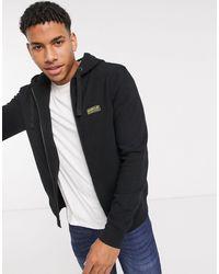 Barbour Essential Small Logo Zip Through Hoodie - Black