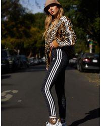 adidas Originals Черные Леггинсы Leopard Luxe-черный Цвет
