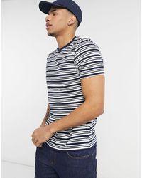 New Look Camiseta azul marino a rayas