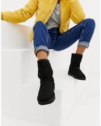 UGG Classic Short II Black Twinface Boots - Negro