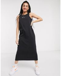 Champion Reverse Weave Logo Midi Dress - Black