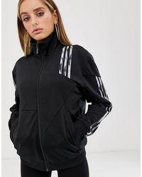 Détails sur Adidas Originaux Hommes Firebird Veste Haut de Survêtement Fermeture Éclair Noir