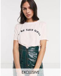 Whistles Exclusive Je Ne Sais Quois T-shirt - Pink