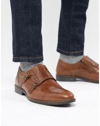 Red Tape - Monk Shoes In Tan - Lyst