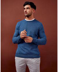 TOPMAN Organic Knitted Jumper - Blue
