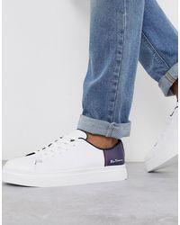 Ben Sherman Zapatillas con diseño colour pop en blanco/azul marino