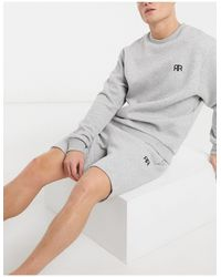 River Island Quilted Lounge Shorts - Gray