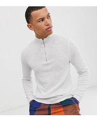 Mittelschwerer Pullover mit kurzem Reißverschluss, in Schwarz