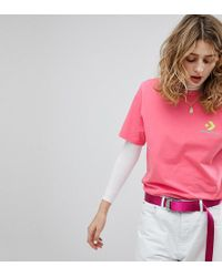 Converse - Exclusive To Asos T-shirt In Pink - Lyst