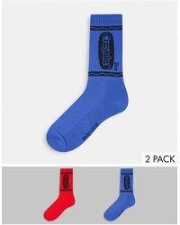 ASOS Crayola Socks 2 Pack - Red