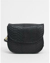 ASOS Cross Body Saddle Bag - Black