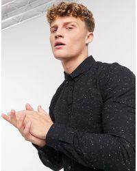 Dr. Denim Pete Long Sleeve Shirt-black